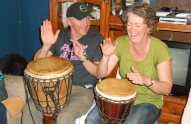 Couple drumming